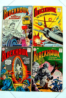 1950s BLACKHAWK COMIC BOOK COLLECTION ISSUE #105 , 127, 135, 138, NICE CONDITION