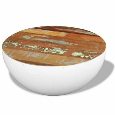 vidaXL Solid Recycled Timber Bowl Shaped Coffee Side Table Handcraft Furniture