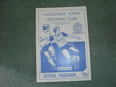 Halesowen Town  V  Frickley Athletic  (Fa Cup 1St Round Replay Tie)  19-11-85