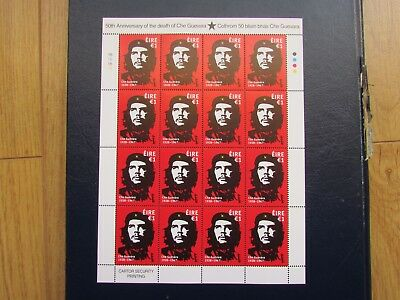 Che Guevara  Full Sheet Of 16 Irish €1 Stamps. Unmounted Mint Condition.2017.