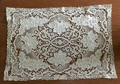 Antique Needle Lace Doilies Set Of Three As Is White