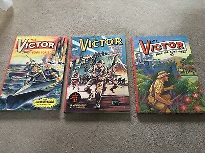 The Victor Book For Boys - three annuals including 1966