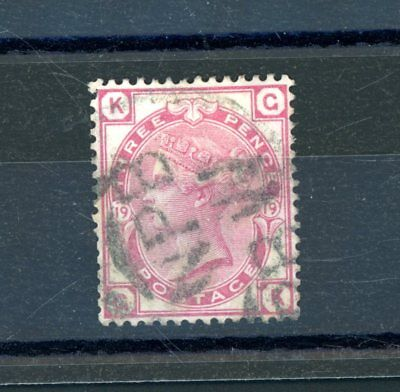 Great Britain Victoria  3d Rose  (SG 144)  Plate 19  fine-used    (N1295)