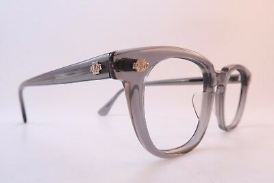 Vintage 50s Catseye Cats eye glasses frames clear grey acetate made in USA