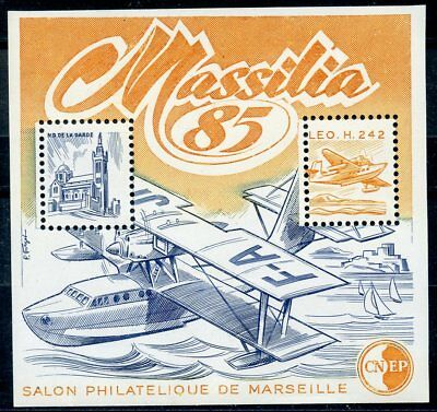 Stamp / Timbre France Neuf Bloc Feuillet C.n.e.p.  N° 6 **  Marseille / Avion