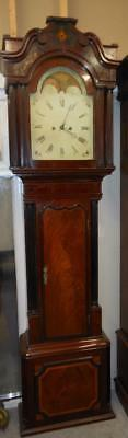 8 day mahogany moonroller  longcase clock
