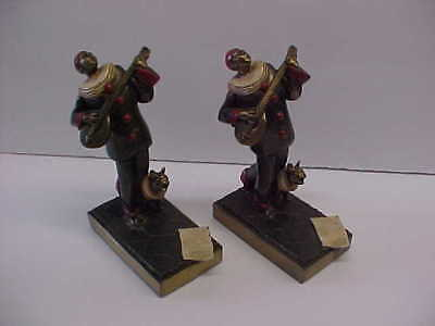 VINTAGE K&O 1936 BOOKENDS MASQUERADES w FRENCH BULL DOGS KNONHEIM & OLDENBUSCH