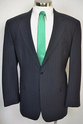 (44R) Brooks Brothers Men's Navy Blue Wool Pleated Front 2 Piece Suit (36x32)