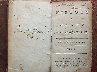 1798 - The History of Henry Earl of Moreland - Second Edition - Volume 2 Only