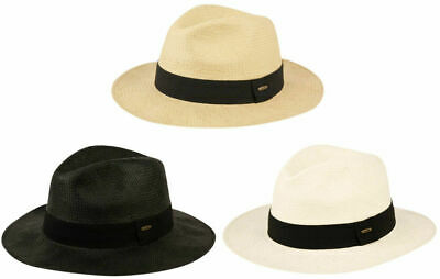 Mens Panama Wide Brim Fedora Straw Hat Indiana Jones Style Summer Cool Hat add00282c38a