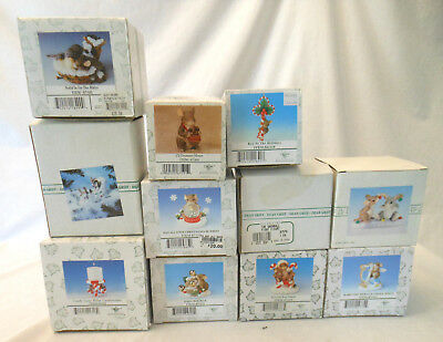 Charming Tails Fitz and Floyd Christmas lot of 10 plus read description