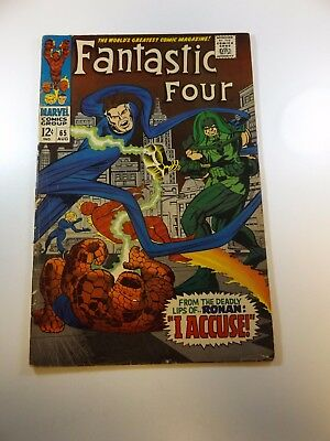 Fantastic Four #65 1st appearance of Ronan VG condition