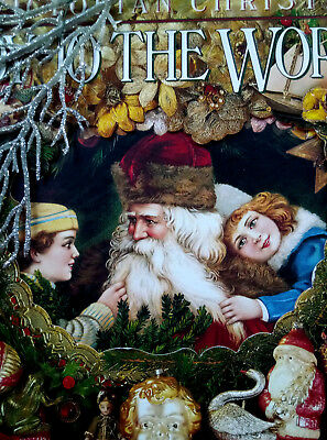"** TRAUM -WEIHNACHTSBUCH ""Joy to the world"" Victorian christmas *alter W.Schmuck"
