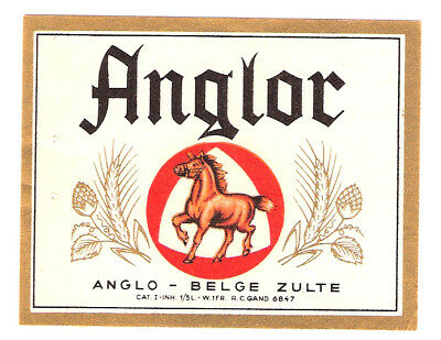 >étiquette BRASSERIE ANGLO-BELGE - ZULTE