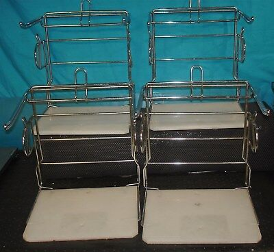 Lot of 4 Steel & Plastic Grocery Store Shopping Bag Holder Rack T Shirt Stand