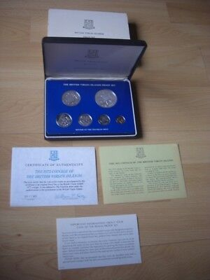 British Virgin Islands Proof Set 1975 - Franklin Mint - PP in OVP + Zertifikat