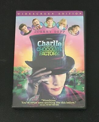 Charlie And The Chocolate Factory DVD Widescreen Johnny Depp