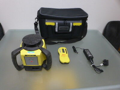 LEICA Rugby 610 rotary laser level w RodEye Classic receiver calibrated