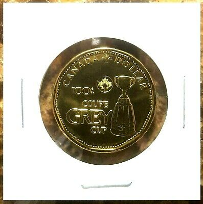 Canada 2012 Grey Cup Commemorative Loonie BU UNC From Mint Roll!!