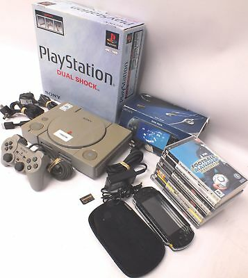 PLAYSTATION Console Bundle PS1 + PSP Console with 8 Games + Accessories - E34