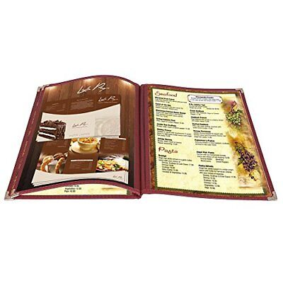 Yescom 30pcs 8.5x14inches Menu Cover Trifold 6 View 3 Page Restaurant Cafe Book