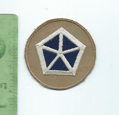 WWII US Army 5th  V Corps  patch embroidered on khaki  variation