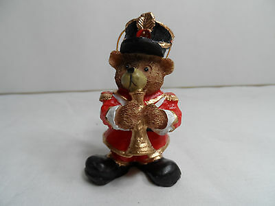 Teddy Bear Playing Trumpet Christmas Tree Ornament new musical instrument band