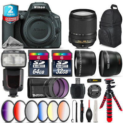 Nikon D5500 DSLR Camera + AFS 18-140mm VR + Pro Flash + 9PC Filter Kit + 96GB