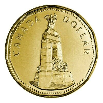 Canada 1994 War Monument Memorial Loonie BU UNC From Mint Roll!!50