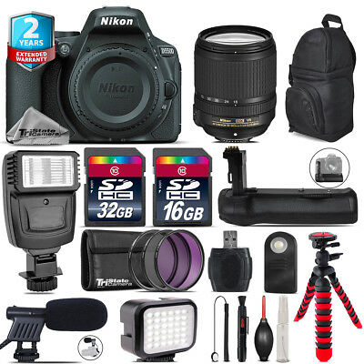 Nikon D5500 DSLR Camera + AFS 18-140mm VR + LED Kit + Mic + Battery Grip + 48GB