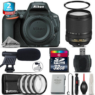 Nikon D5500 DSLR Camera + AFS 18-140mm VR + Shoutgun Mic + 4PC Macro Kit - 32GB