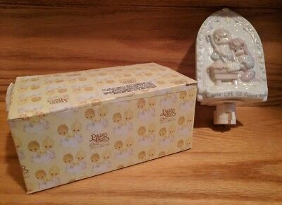 """Precious Moments Socket Night Light """"Come Let Us Adore Him"""" Nativity New in BOX"""