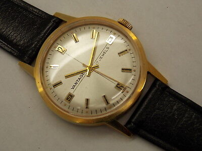 Vintage NEW OLD STOCK Vantage 17 jewel watch case band dial and hands only