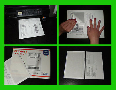 50 SHIPPING LABELS with Tear OFF Paper RECEIPT for EBAY PAYPAL USPS Postage