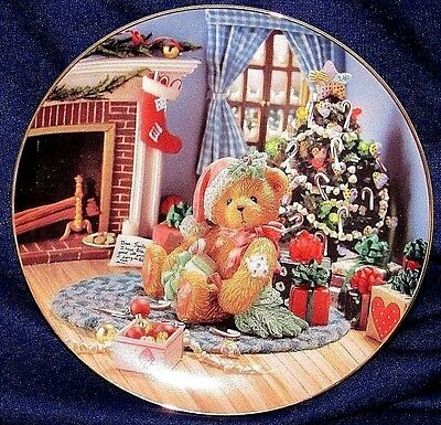 "Collector plate ""Cherished Teddies"" 1994 ""Happy Holidays Friend"" numbered. (b)"