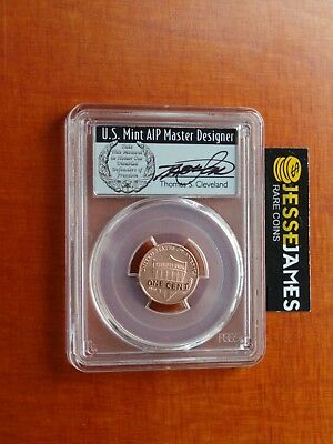 2017 S Enhanced Lincoln Penny Pcgs Sp70 Rd First Day Issue Cleveland Signed Fdi