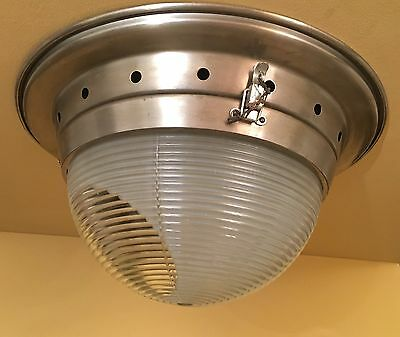Vintage Lighting dramatic 1940s kitchen fixture by Luminous Company