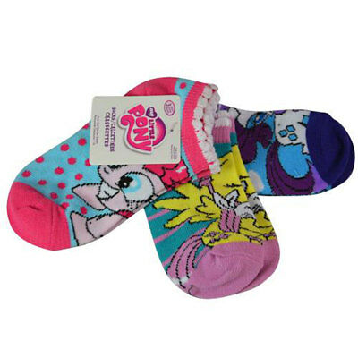 My Little Pony Girls 3-pack Socks 4-6 Shoes Size 7-10 NEW