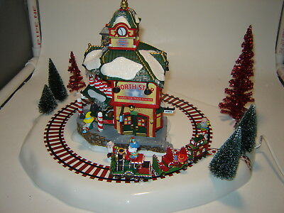 Dept 56 North Pole - Animated North Star Commuter Train Station