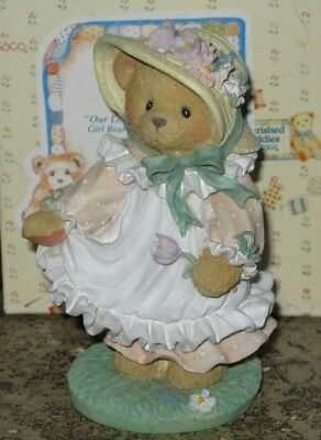 Enesco Cherished Teddies Fig Hope 103764 Our Love Is Ever-Blooming 1994