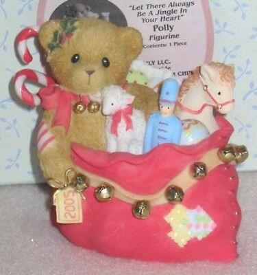 Enesco Cherished Teddies Always Be A Jingle In Your Heart Polly Figurine 4002840