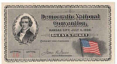 1900 Democratic National Convention Ticket