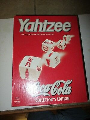 New-Never played-Coca Cola Yahtzee-Collector's Edition-Dice Game