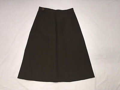 "Original Wwii Womens Us Army Wac Skirt, Wool Olive Drab 27"" Waist"