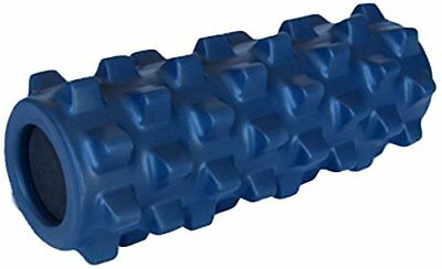 Grid Rumble-Type Roller, Half Size 36cm - compact, deep tissue relief, BLUE