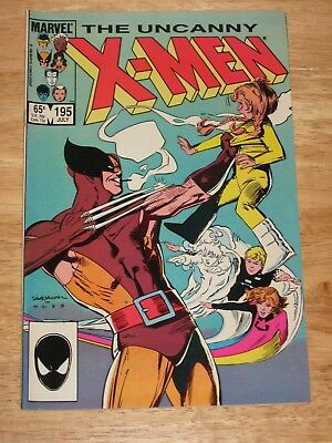 Uncanny X-Men 195  Wolverine and Power Pack Unread  High Grade Marvel Comics