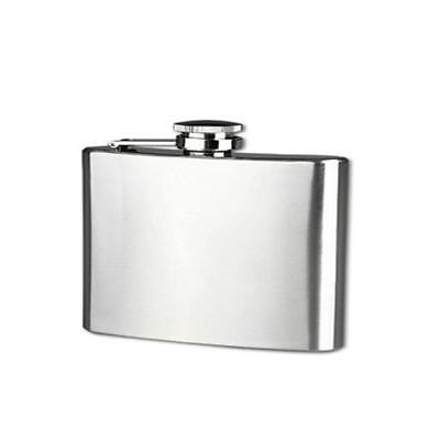 4 oz Stainless Steel Pocket Hip Flask Alcohol Whiskey Liquor Screw Cap Bottle A
