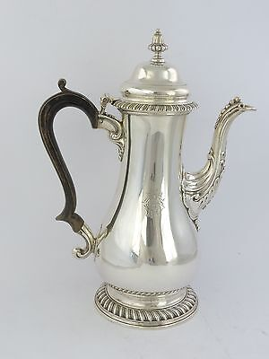 Stunning GEORGIAN ANTIQUE SILVER COFFEE POT, London 1768 by Stamp & Baker