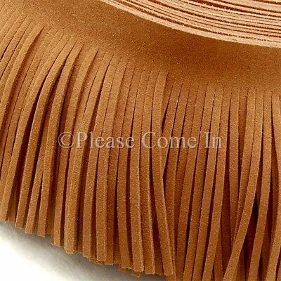 1 yard Brown/Dark Brown/Tan Suede FringeTrim Multi Length for Your Selection