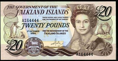 Falkland Islands, Twenty Pounds, 1-10-1984, A164444, AU-Uncirculated.